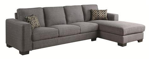 grey sectional sofas coaster norland 500311 grey fabric sectional sofa