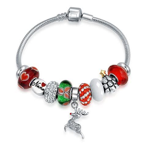 bracelet charms silver reindeer nana charm bracelet pandora