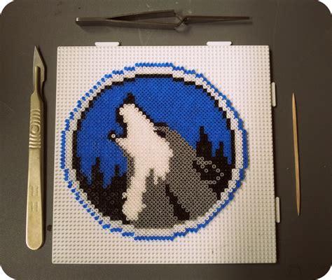 perler bead wolf image gallery wolf perler