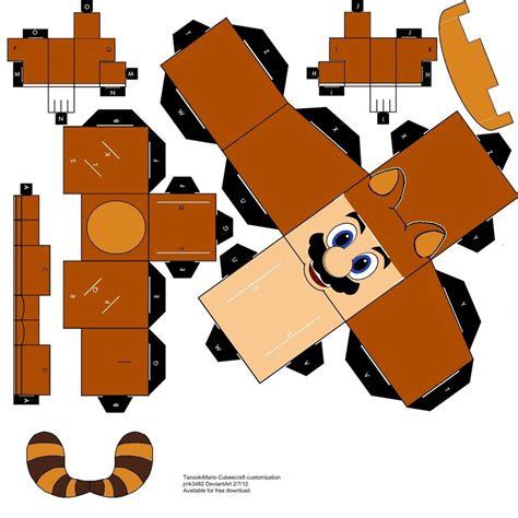 mario paper craft tanooki mario papercraft cubeecraft by jmk3482 on deviantart