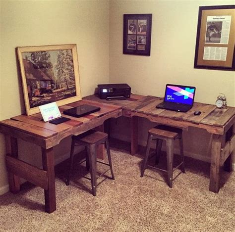diy l desk great diy pallet farm table desk