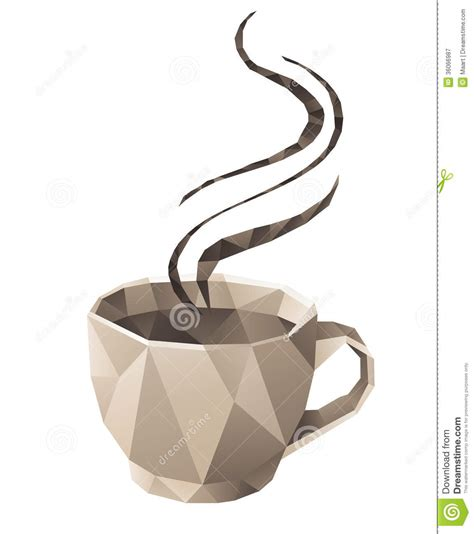 coffee origami coffee cup royalty free stock photography image 36066987