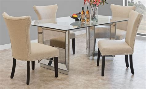 mirror dining room tables mirrored dining table collection