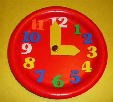 paper plate clock craft learning ideas grades k 8 5 minute interval paper plate