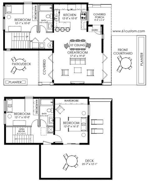 floor plans for a small house modern house plans modern stock house plans for arizona
