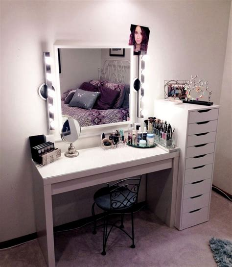modern vanity desk modern ikea vanity makeup table with lights and drawers
