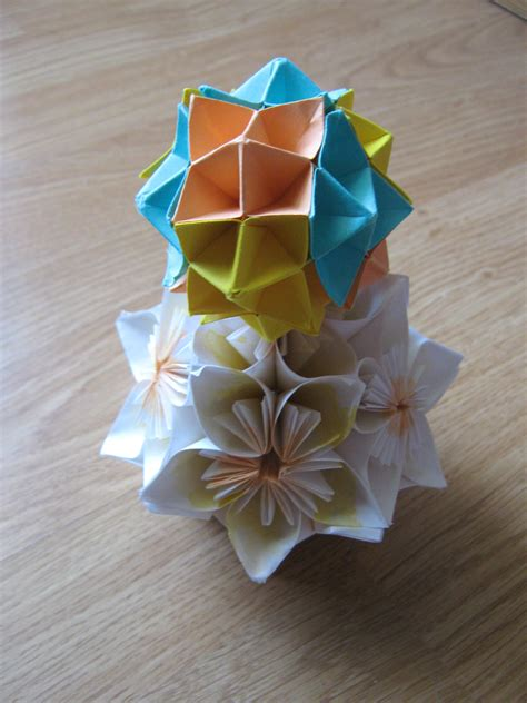 Some Origami Work Kusudama Spike Paper Cranes