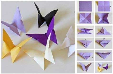 how to make origami butterflies butterfly chandelier mobile diy tutorials