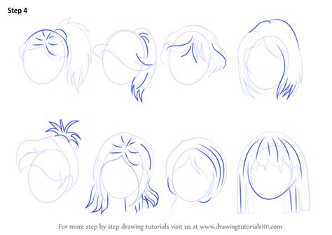 how to draw anime learn how to draw anime hair hair step by step