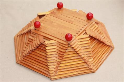 arts and crafts with popsicle sticks for wood popsicle stick bowls retro vintage summer c arts