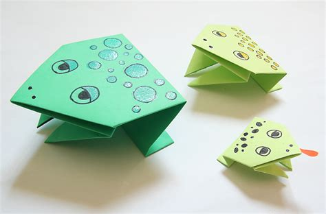 simple origami jumping frog creative march 2012