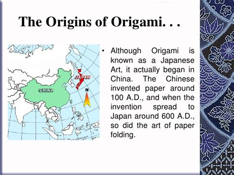 who started origami how to fold origami