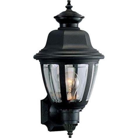 home depot outdoor wall lighting progress lighting black outdoor wall lantern p5737 31