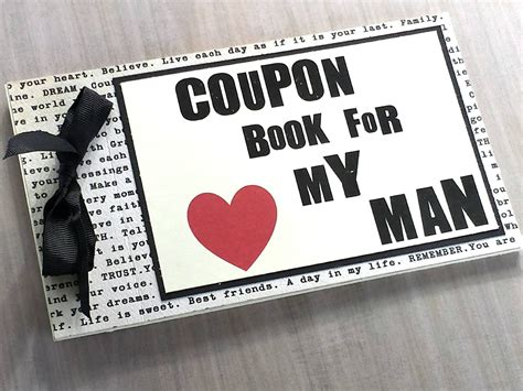picture book for boyfriend coupon book for husband boyfriend by littlebluemarket