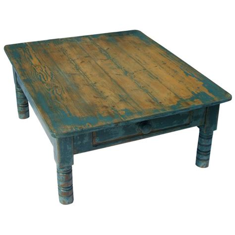 blue coffee table blue painted pine coffee table at 1stdibs