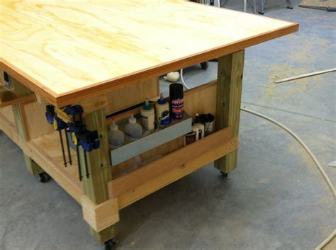 woodworking assembly table pin by david on workshop