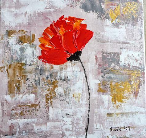 catt 233 artiste peintre peinture acrylique floral