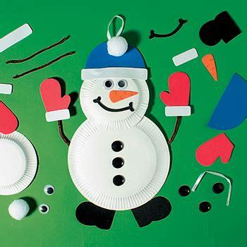 paper plate snowman craft snowman paper plate craft kit x 12 mct 5900 163 10 74