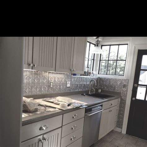 fasade kitchen backsplash panels tin backsplash done fasade panels house and home