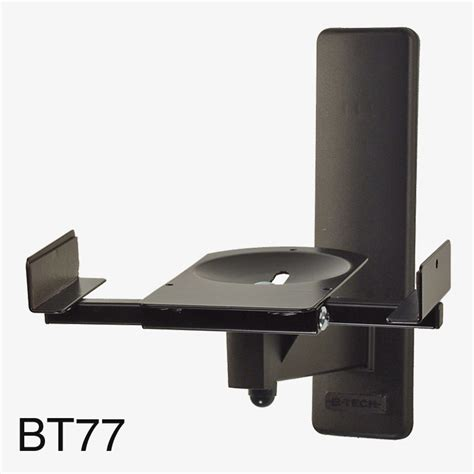 b tech bt77 ultragrip pro support mural pour enceinte 25kg max inclinable pivotable noir paire