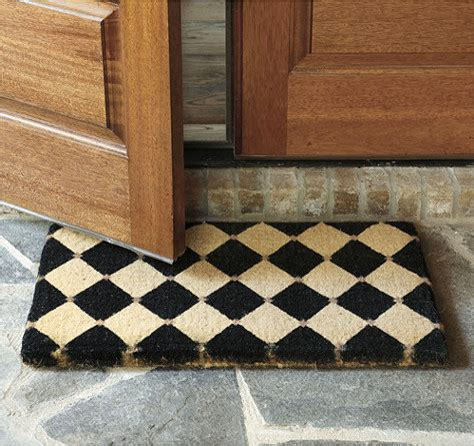 decorative rubber st court coir mat contemporary door mats by