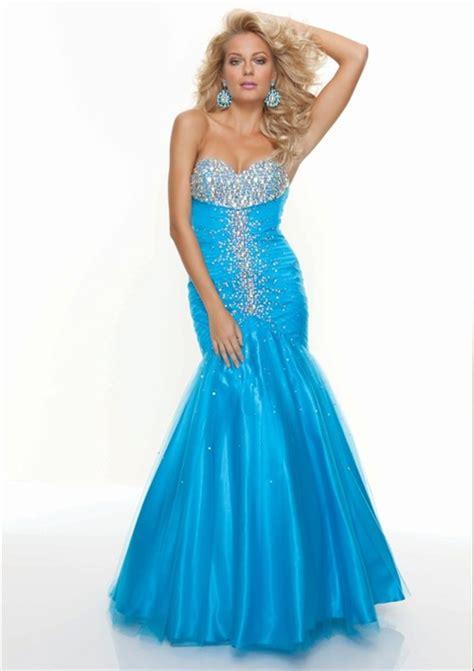 tulle beaded dress trumpet mermaid sweetheart blue tulle beaded prom
