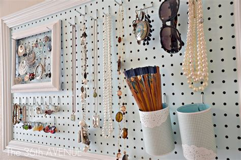 how to make a jewelry display board peg board and accessories station the 36th avenue