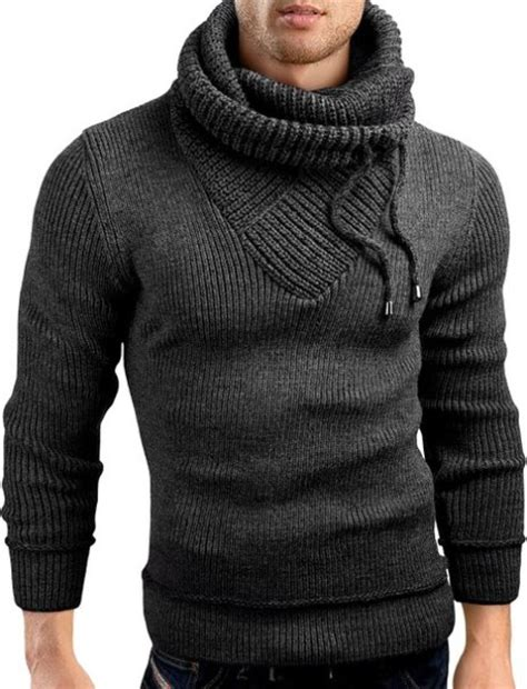 knitted hoodie mens shirts