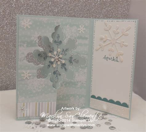 how to make flip cards snowflake flip card