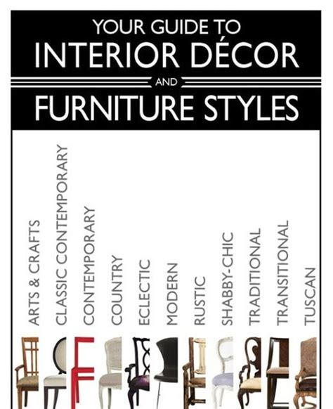home design style guide furniture styles guide home design
