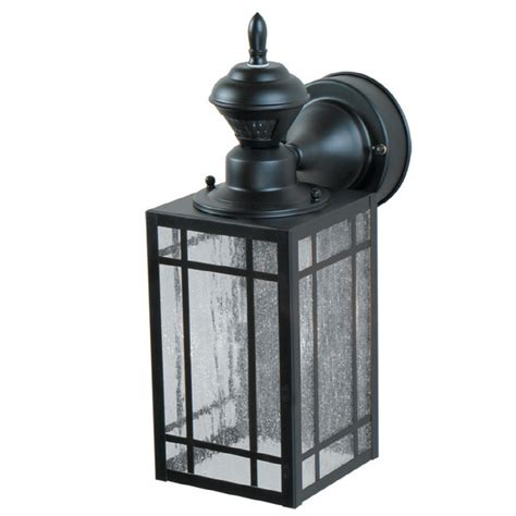outdoor motion activated light shop portfolio black motion activated outdoor wall light