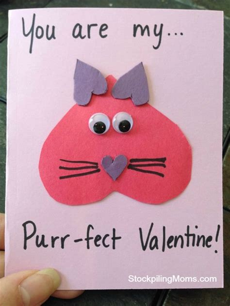 easy to make valentines cards you are my purr fect card