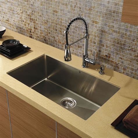 undermount kitchen sink stainless vigo vgr3219c 32 undermount 16 single bowl kitchen