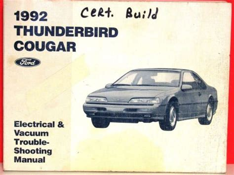 where to buy car manuals 1992 ford thunderbird free book repair manuals find 1992 ford thunderbird mercury cougar workshop service shop repair manual motorcycle in