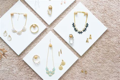 how to jewelry diy jewelry display canvases