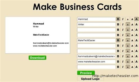 websites to make business cards for free 6 tools to create business cards