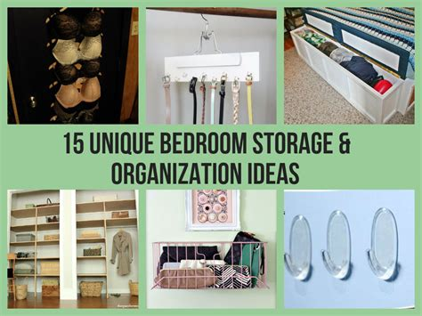 diy bedroom organization ideas 15 unique bedroom storage organization ideas