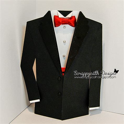 how to make a suit card scraps of tuxedo card revisited