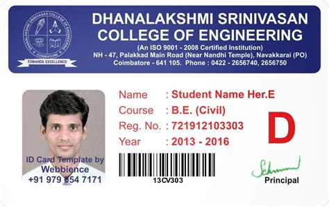 how to make student id cards template galleries college student id card template