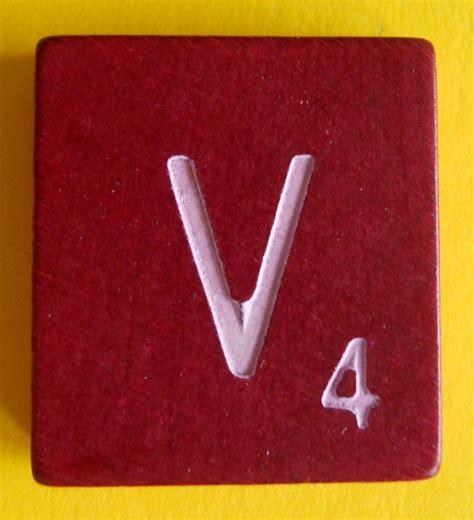 single scrabble tiles single maroon scrabble wood letter v tile one only