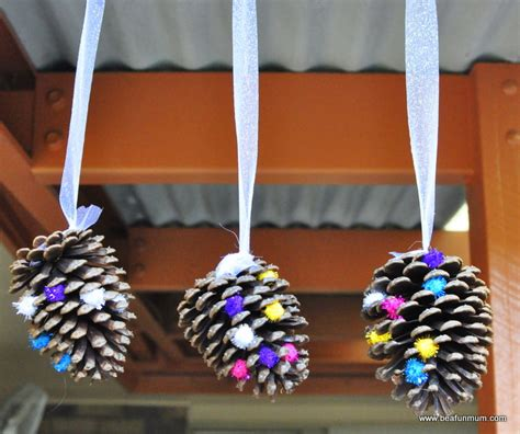 cone crafts for pine cone hanging decoration be a