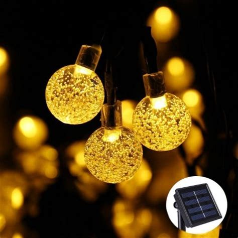 solar globe string lights qedertek solar outdoor string lights 20ft 30 led