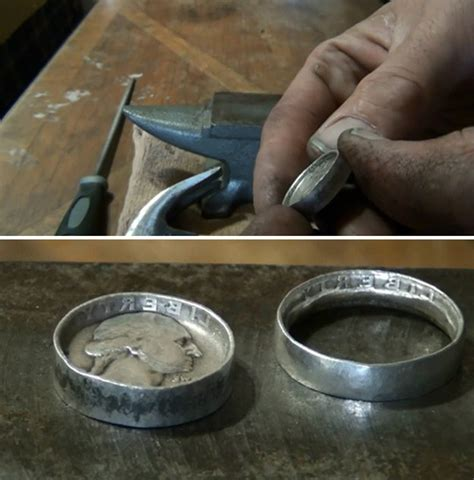 how to make rings jewelry how to make coin rings diy projects craft ideas how to s