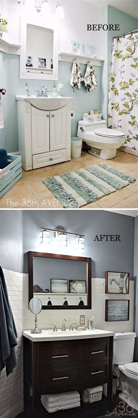 Bathrooms Makeovers by Before And After 20 Awesome Bathroom Makeovers Hative
