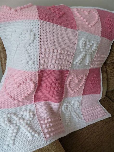 knitting bobble pattern knitted crochet bobble and bowknot blanket free