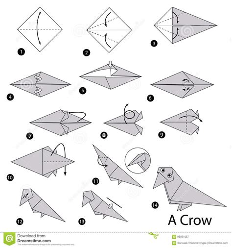 origami paper canada step by step how to make origami a stock