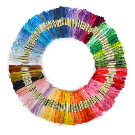 threads and 100 pieces similar dmc color cross threads cross stitch