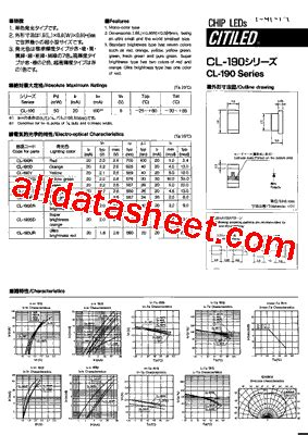cl list cl 190g datasheet pdf list of unclassifed manufacturers