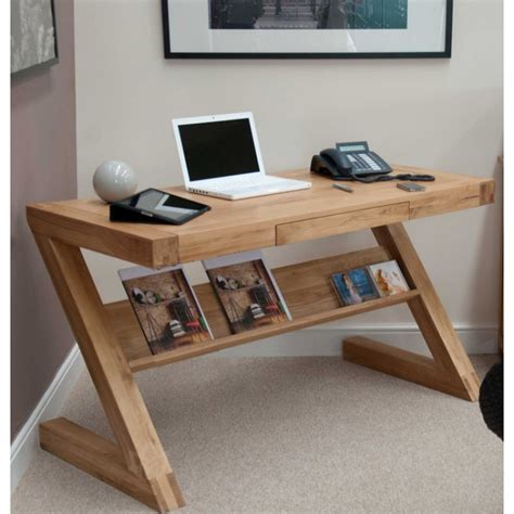small oak desks z solid oak designer small computer desk furniture4yourhome