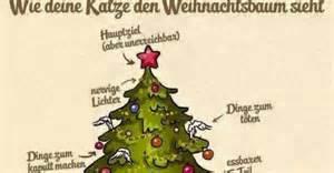 wie deine katze den weihnachtsbaum sieht lustige